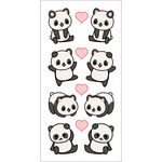 "Pandas - Paper House Sticky Pix Stickers 2""X8"""