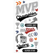 "MVP - Paper House Puffy Stickers 3""X6.5"""