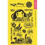 "Enveloper Hello - Waffle Flower Crafts Clear Stamps 4""X6"""