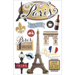 "Discover Paris - Paper House 3D Stickers 4.5""X7"""