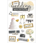 "Wedding Reception - Paper House 3D Stickers 4.5""X7"""