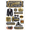 "Wedding Groom - Paper House 3D Stickers 4.5""X7"""