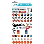 """Sports - Paper House Life Organized Planner Stickers 4.5""""X7.5"""" 4/Pkg"""