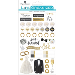 "Always & Forever Wedding - Paper House Life Organized Planner Stickers 4.5""X7.5"" 4/Pkg"