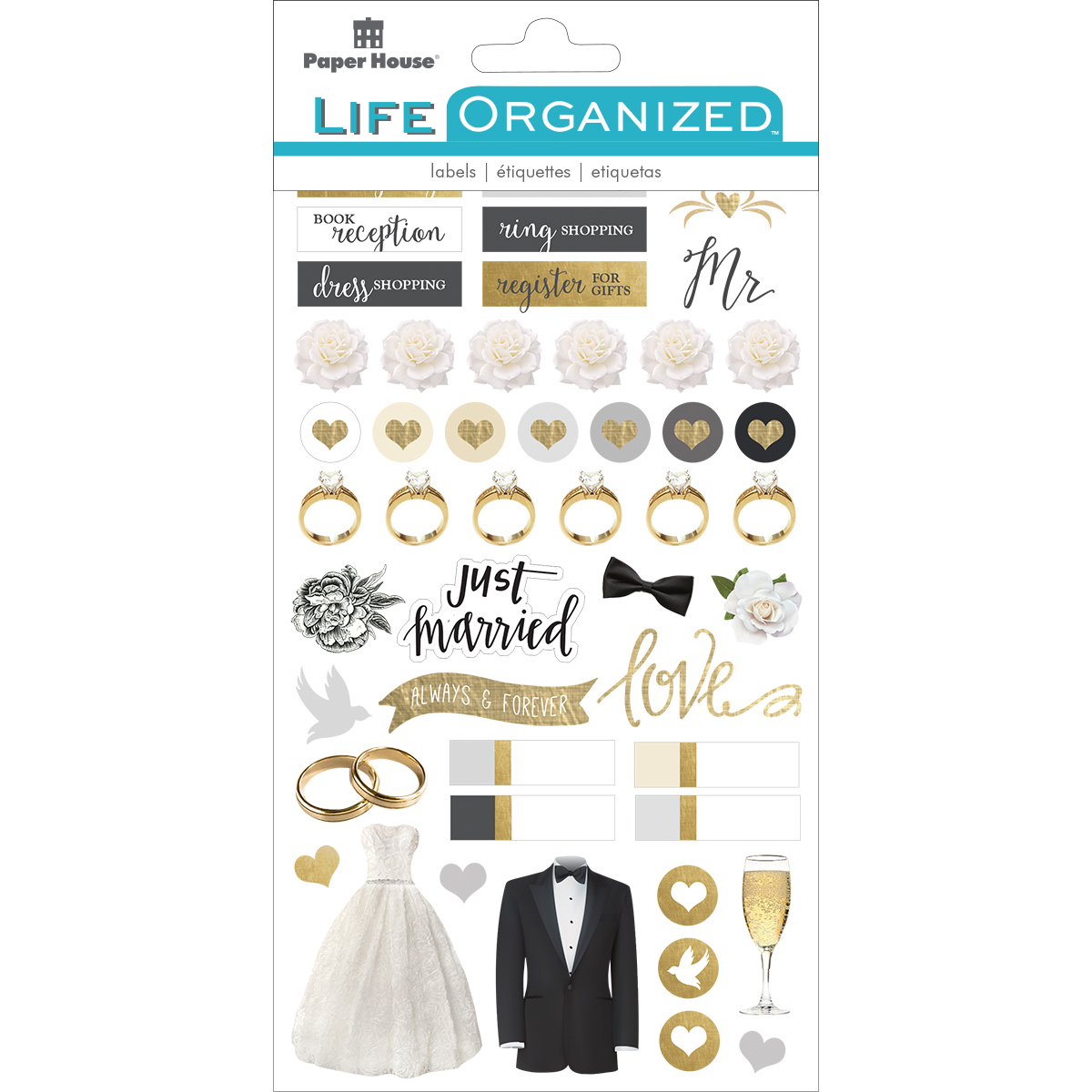 Always & Forever Wedding - Paper House Life Organized Planner Stickers 4.5