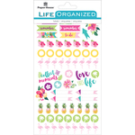 "Embrace Today - Paper House Life Organized Planner Stickers 4.5""X7.5"" 4/Pkg"
