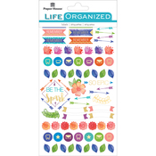 "Live Bold - Paper House Life Organized Planner Stickers 4.5""X7.5"" 4/Pkg"