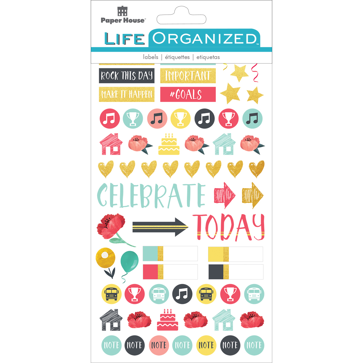 Family - Paper House Life Organized Planner Stickers 4.5