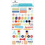 "School - Paper House Life Organized Planner Stickers 4.5""X7.5"" 4/Pkg"