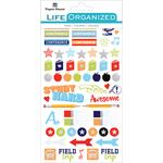 "School - Paper House Life Organized Planner Stickers 4.5""X7.5"" 4/Pkg"
