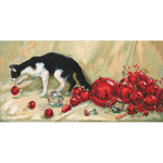 """15.75""""X8"""" 14 Count - Nipper Counted Cross Stitch Kit"""