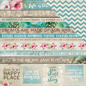"""Salty Seas - Island Escape Double-Sided Cardstock 12""""X12"""""""