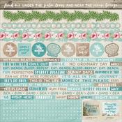 """Island Escape Cardstock Stickers 12""""X12"""""""