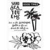 "Island Escape Clear Stamps 6""X4"""