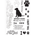"""Dog - Pawfect Clear Stamps 6""""X4"""""""