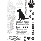 "Dog - Pawfect Clear Stamps 6""X4"""