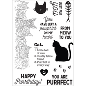 """Cat - Pawfect Clear Stamps 6""""X4"""""""