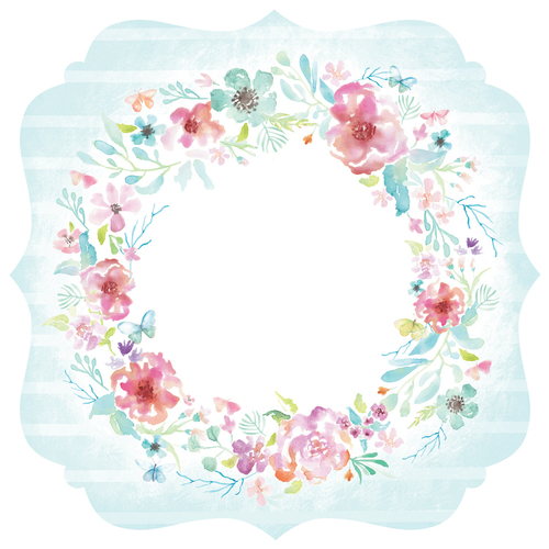 "Bracket - Wildflower Die-Cut Cardstock 12""X12"""