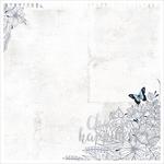 """Choose Happiness - Indigo Skies Foiled & Die-Cut Cardstock 12""""X12"""""""