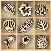 Life's A Beach - Themed Mini Wooden Flourishes 45/Pkg
