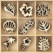 Life's A Beach - Themed Mini Wooden Flourishes 45/Pkg