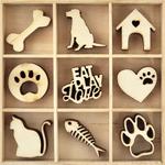 Pets - Themed Mini Wooden Flourishes 45/Pkg