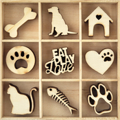Pets - Themed Mini Wooden Flourishes 45/Pkg