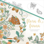 "Flora & Fauna - KaiserColour Perfect Bound Coloring Book 9.75""X9.75"""