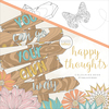 """Happy Thoughts - KaiserColour Perfect Bound Coloring Book 9.75""""X9.75"""""""