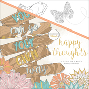 "Happy Thoughts - KaiserColour Perfect Bound Coloring Book 9.75""X9.75"""