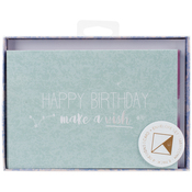 "Lunar W/Pearl Accents; Blank - Kaiser Style Cards W/Envelopes 4""X6"" 8/Pkg"