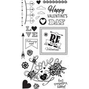 Be Mine Valentine - Sizzix Clear Stamps By Courtney Chilson