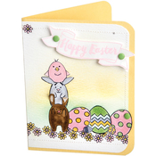 Hoppy Easter - Sizzix Clear Stamps By Lynda Kanase