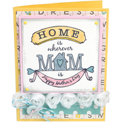 Best Mom Ever - Sizzix Clear Stamps By Jen Long
