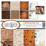 "Coffee & Tea - Reminisce Collection Kit 12""X12"""