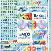 """Springtime Alpha Stickers 12""""X12"""""""