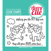 "Pegasus Duo - Avery Elle Clear Stamp Set 4""X3"""
