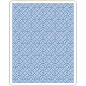 Latticework - Sizzix Texture Fades A2 Embossing Folder