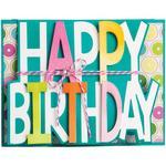 Happy Birthday Card - Sizzix Framelits Drop-Ins Dies By Stephanie Barnard 3/Pkg