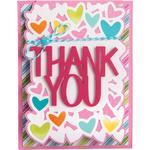 Thank You Card - Sizzix Framelits Drop-Ins Dies By Stephanie Barnard 4/Pkg