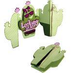 Cactus Fold-A-Long Card - Sizzix Thinlits Dies by Jen Long 7/Pkg