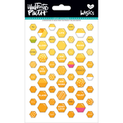 Bananas For You - Illustrated Faith Basics Mini Hexies Epoxy Stickers