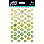Olive You - Illustrated Faith Basics Mini Hexies Epoxy Stickers