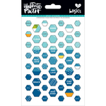 Mrs. Blueberry - Illustrated Faith Basics Mini Hexies Epoxy Stickers