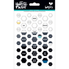 Black Eyed Pea - Illustrated Faith Basics Mini Hexies Epoxy Stickers