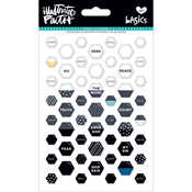 Black Eyed Pea - Illustrated Faith Basics Mini Hexies Epoxy Stickers