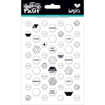 Hey Sugar - Illustrated Faith Basics Mini Hexies Epoxy Stickers