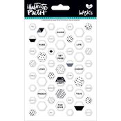 Hey Sugar - Illustrated Faith Basics Mini Hexies Epoxy Stickers