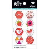 Apple Of My Eye - Illustrated Faith Basics Hexies Epoxy Stickers
