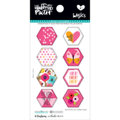 One In A Melon - Illustrated Faith Basics Hexies Epoxy Stickers